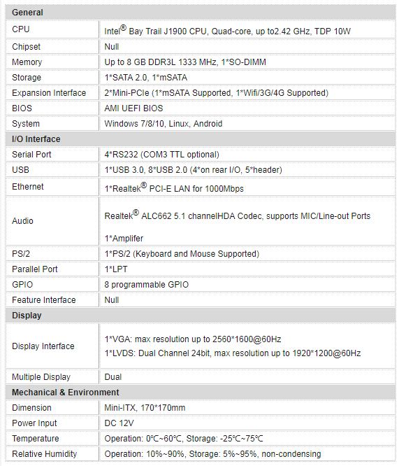 信步科技SV1a-19014P-C嵌入式主板