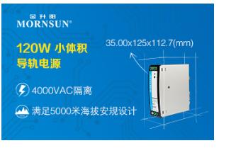 120W 4000VAC高隔离小体积导轨电源——LI120-20BxxR2系列