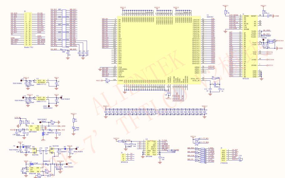 ATK-7 TFTLCD电容触摸屏模块资料和STM32应用的C语言代码免费下载