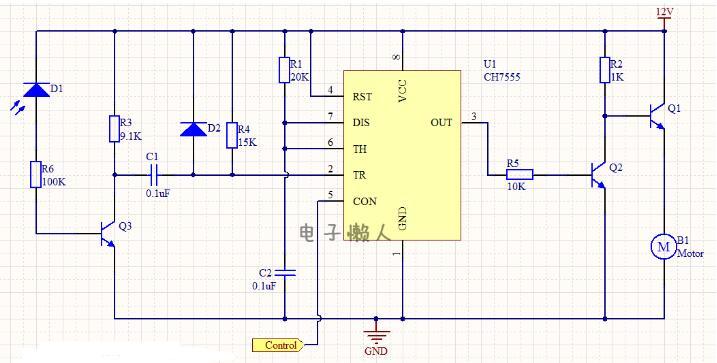 直流电机转速控制电路工作过程分析