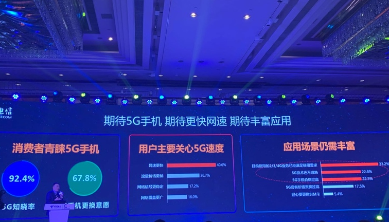 中国电信将紧抓5G发展机遇期推动5G手机终端的快速普及落地