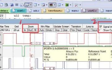 STM32软件仿真调试观察引脚波形与全局变量