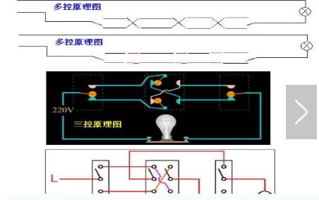 一燈多控的接線原理圖和詳細分析