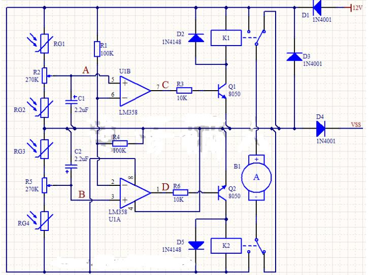 一直流電機控制電路分析