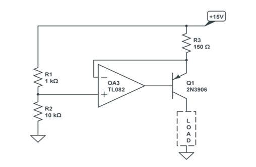 如何为电阻小于1.4k的负载制作电流突降可忽略不...