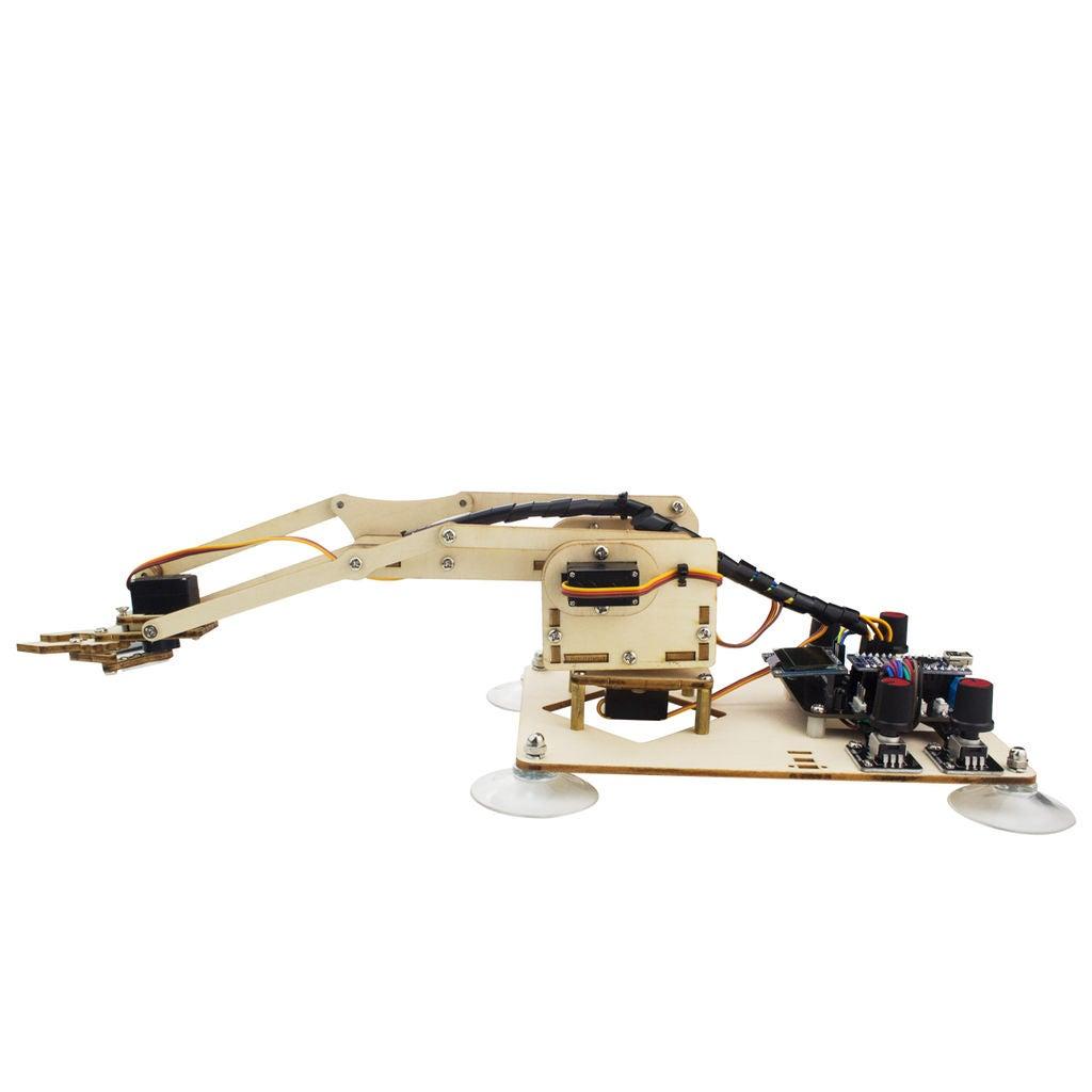 木质机械臂DIY图解