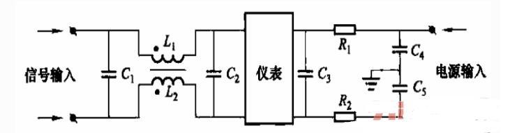 采用滤波器抗干扰接线电路图
