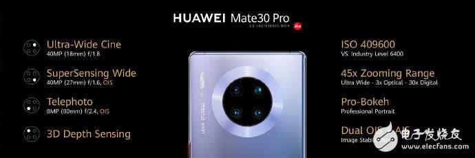 华为Mate 30系列正式发布采用了4000万徕卡四摄最高支持30倍数字变焦
