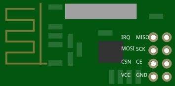 如何将NRF24L01与Arduino连接以及并控制另一个Arduino的LED