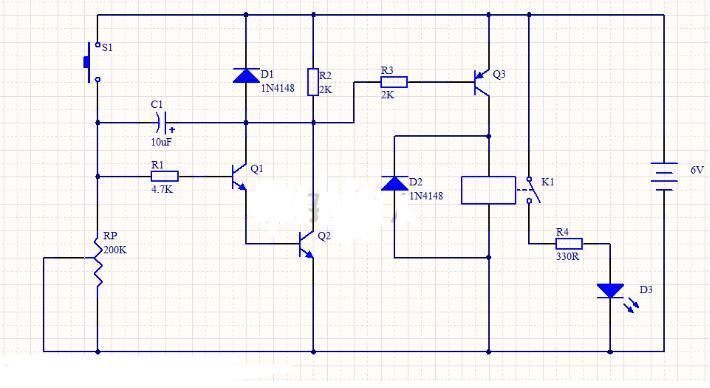 延時控制電路工作過程