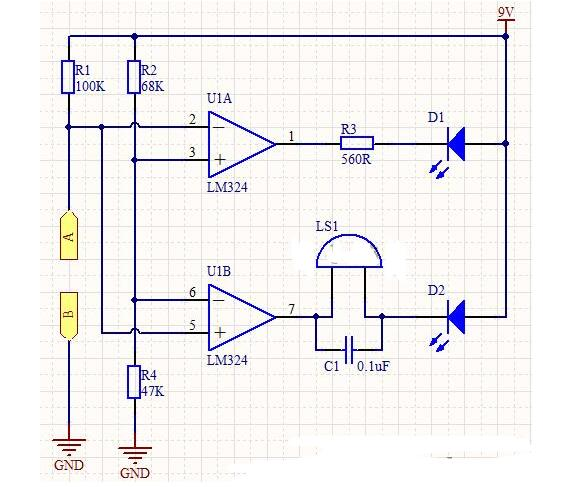 水箱水位指示器电路图
