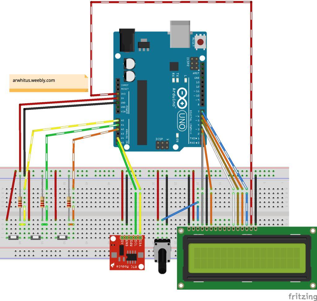 基于arduino的24小时时钟的制作图解