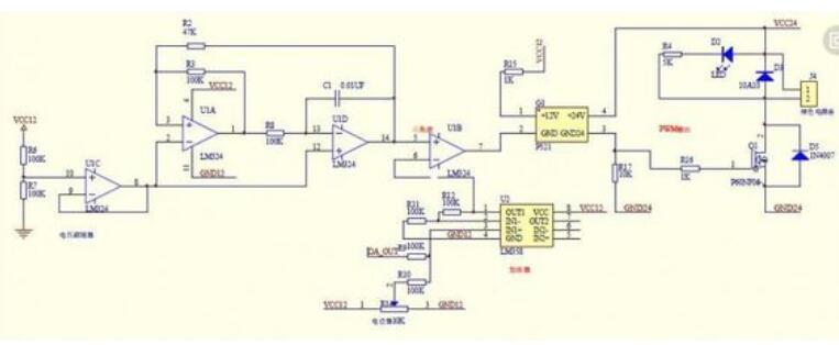 直流电机控制器原理图