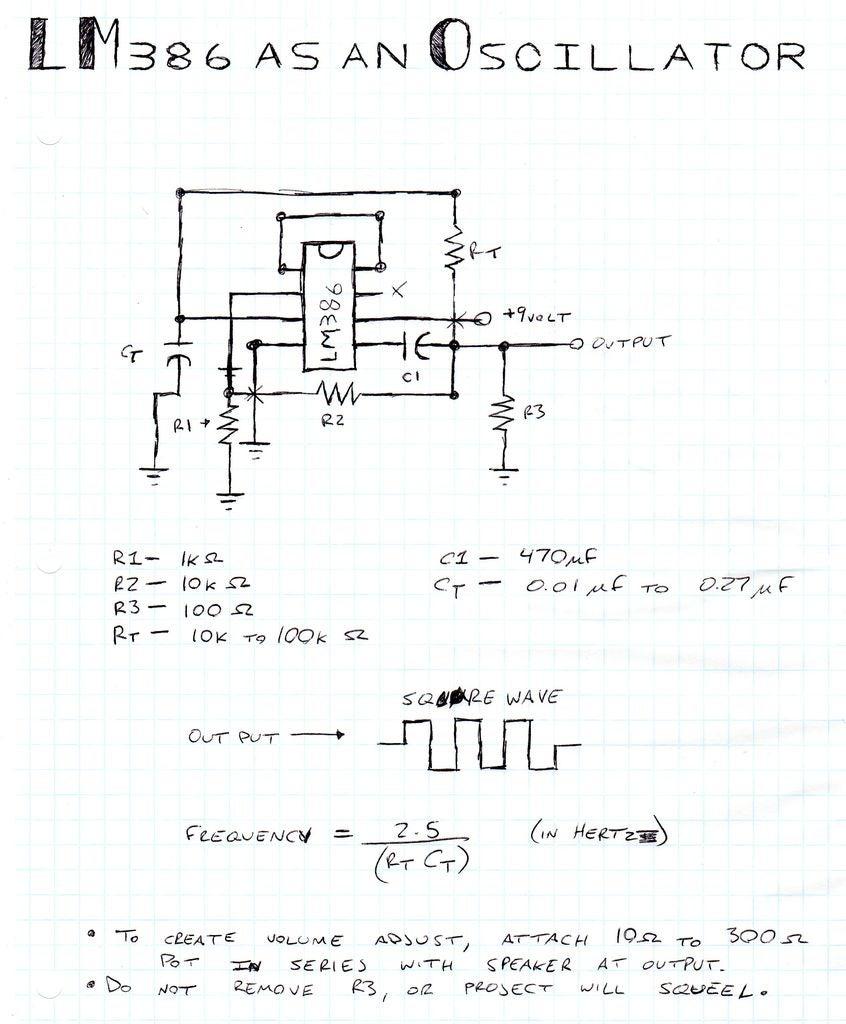 如何使用LM386作为振荡器