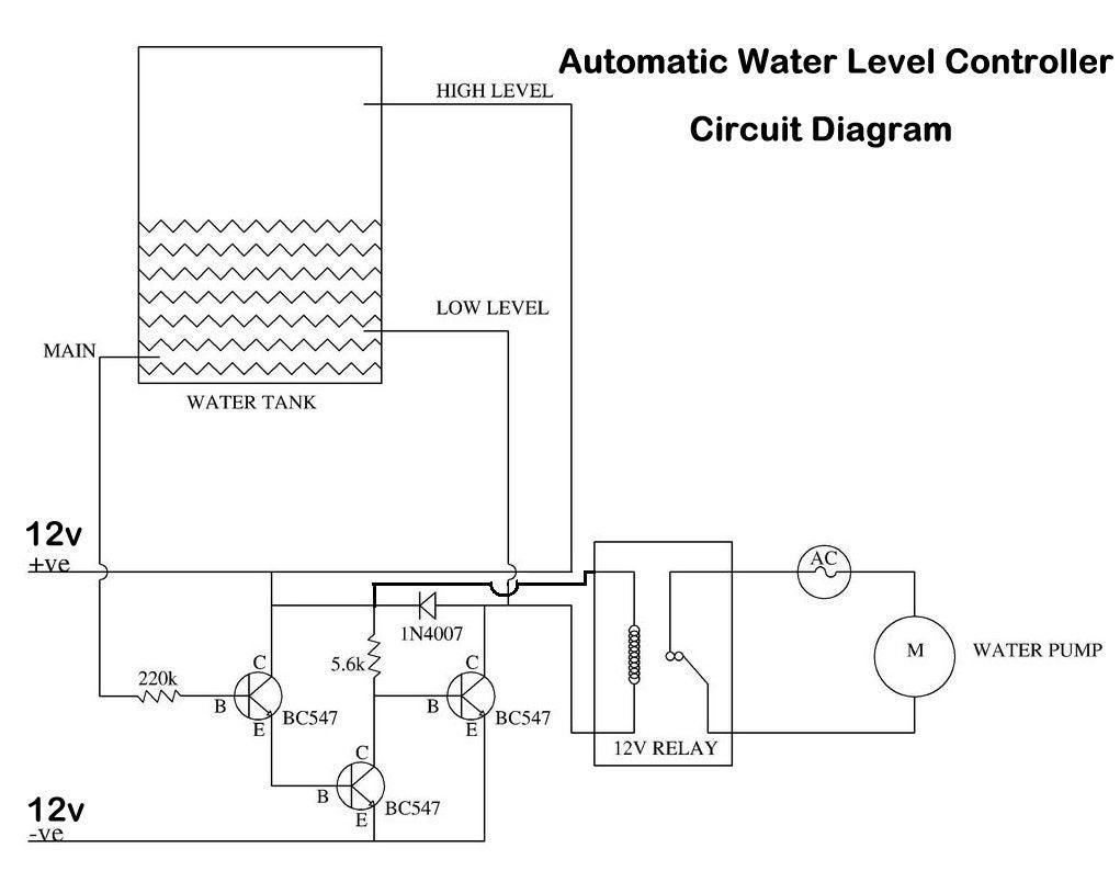 使用晶体管或555定时器IC的自动水位控制器的制作