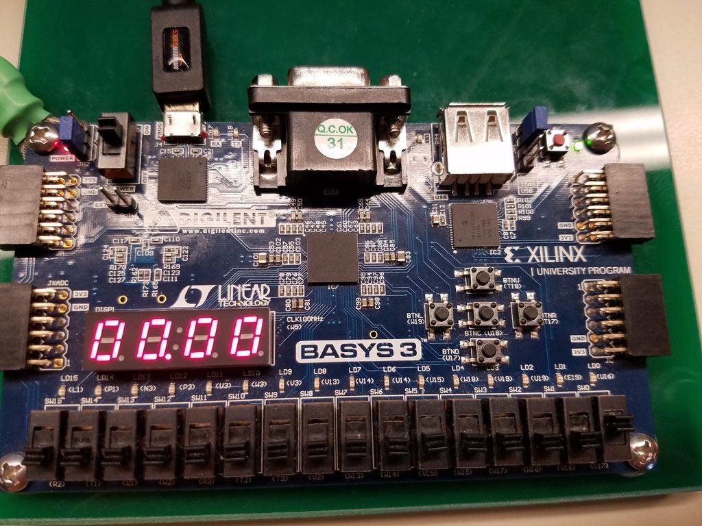 如何使用基本VHDL和Basys3板构建秒表