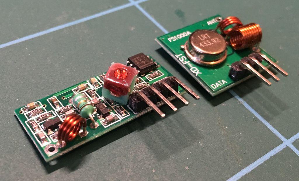 如何使用ESP8266通过433mhz发送器和接收器控制电源插座