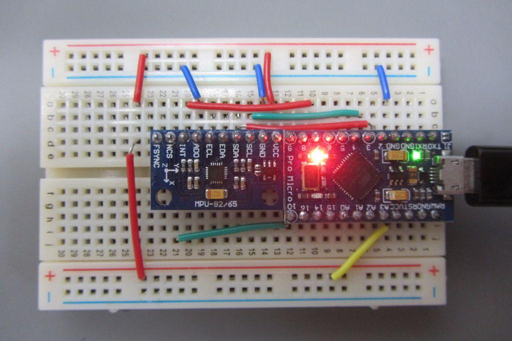 具有ArduinoPro-Micro的MPU-9150 / 9250 IMU