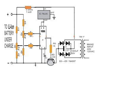 使用IC 555的锂离子电池充电器电路介绍