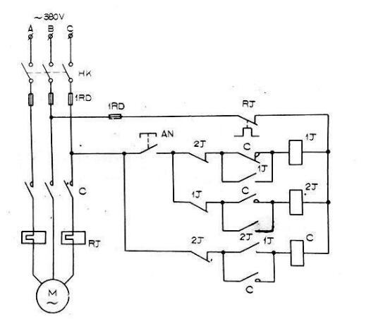 两个简单可行的电机一键启停电路工作过程