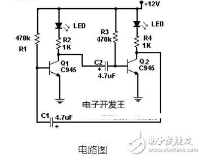 led闪灯安装_LED闪烁灯电路图解