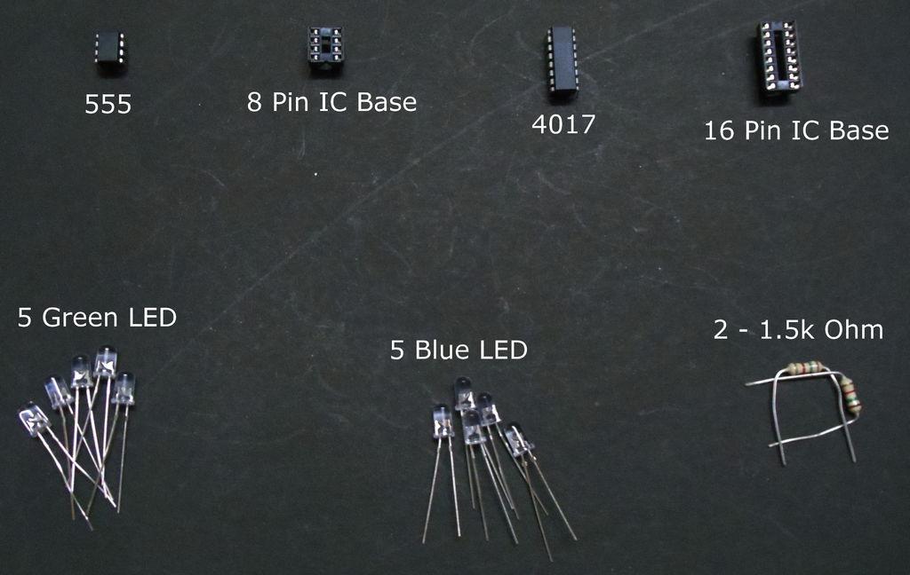 如何使用555和4017电路简化LED跟踪器或音序器