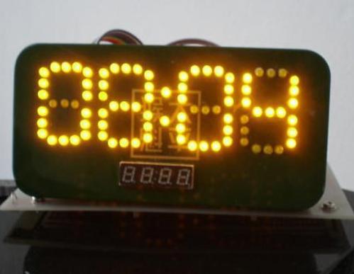 单片机驱动发光二极管实现数码管时钟的设计