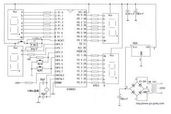 AT89S52单片机实现多功能数字钟的设计