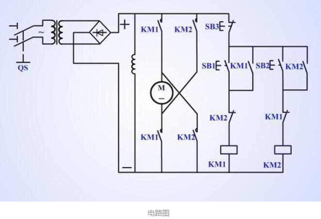 直流电机的正反转控制电路