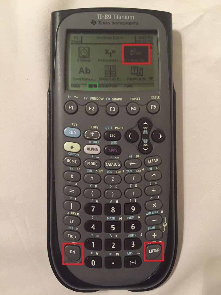 如何在TI-89上编写线性插值程序