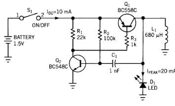 驱动发白光二极管工作的的DC/DC变换电路分析