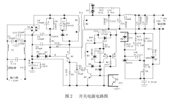 設計自激式開關穩壓電源和開關電源的工作原理及各部分的功能資料說明