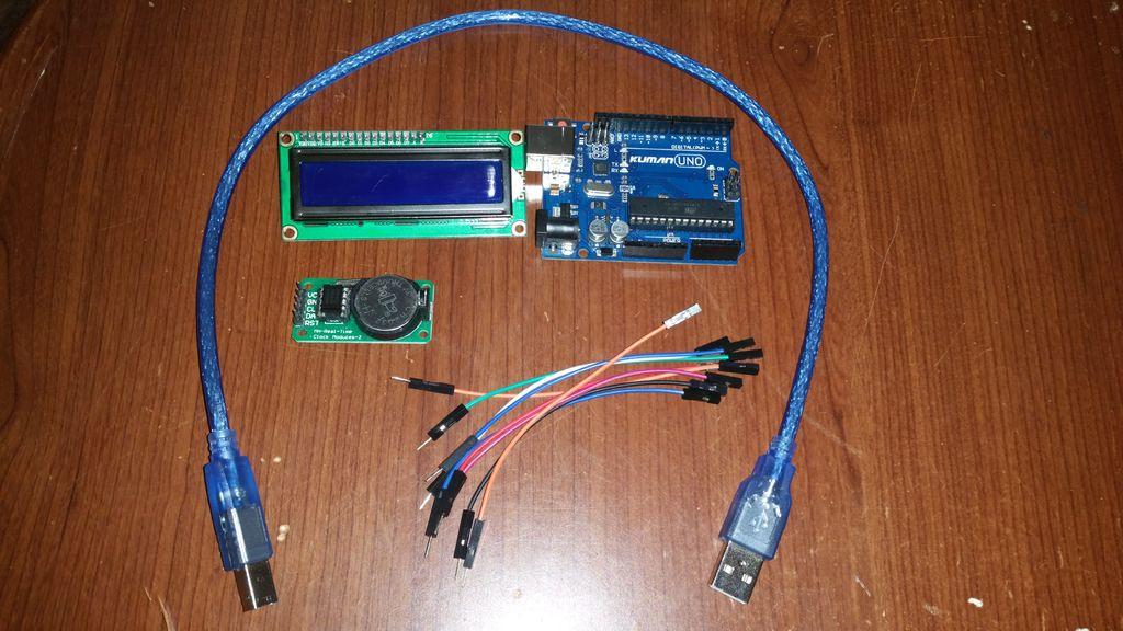如何使用16x2LCD顯示屏和DS1302RTC模塊制作時鐘