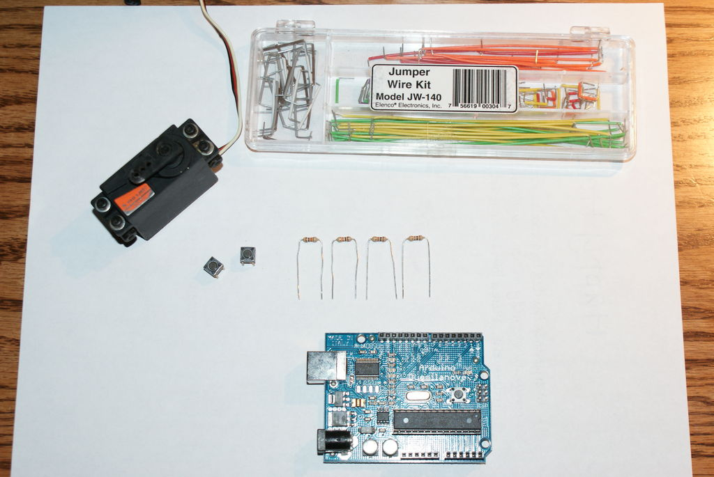 怎樣用Arduino和兩個瞬時開關控制RC伺服電機