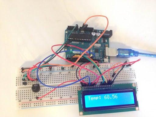 如何制作带LCD的Arduino温度传感器