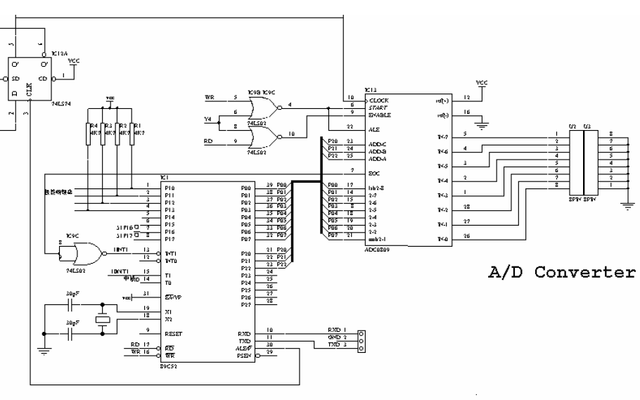 使用89C51和89C2051單片機為核心設計數據采集與傳輸系統的資料說明