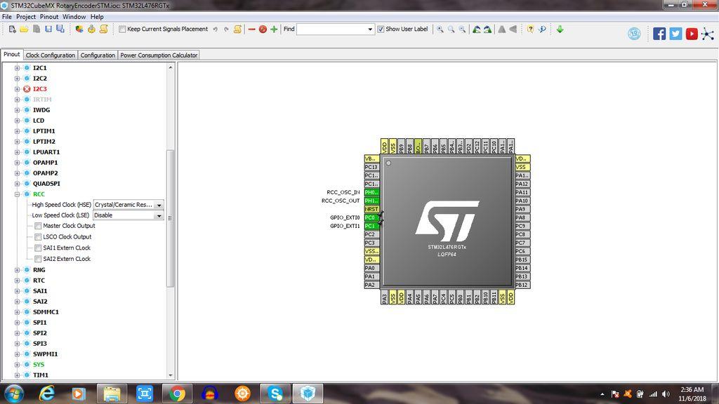 带有STM32 Nucleo板的旋转编码器