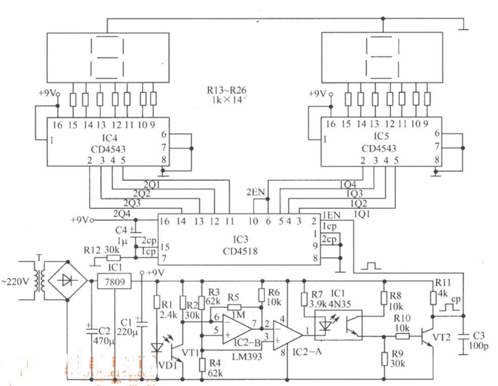 电子计数器电路图_电子计数器接线方法