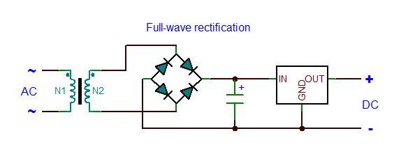 怎样将120VAC电源整流和调节到稳定的9VDC