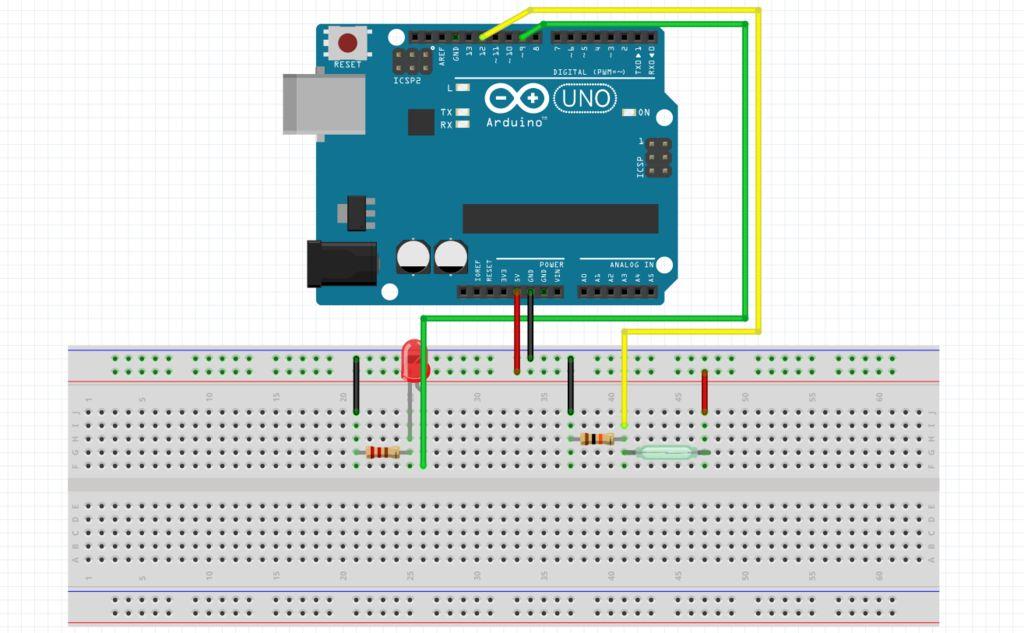 如何使用Arduino簧片开关打开LED