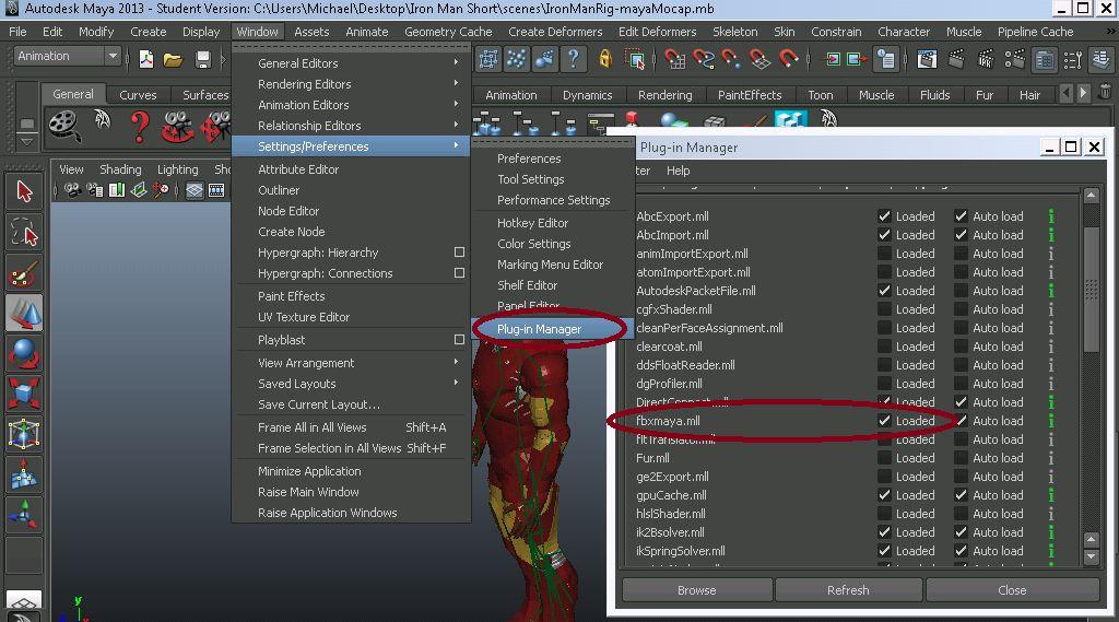 如何在Maya,BVH或FBX中使用Mocap文件