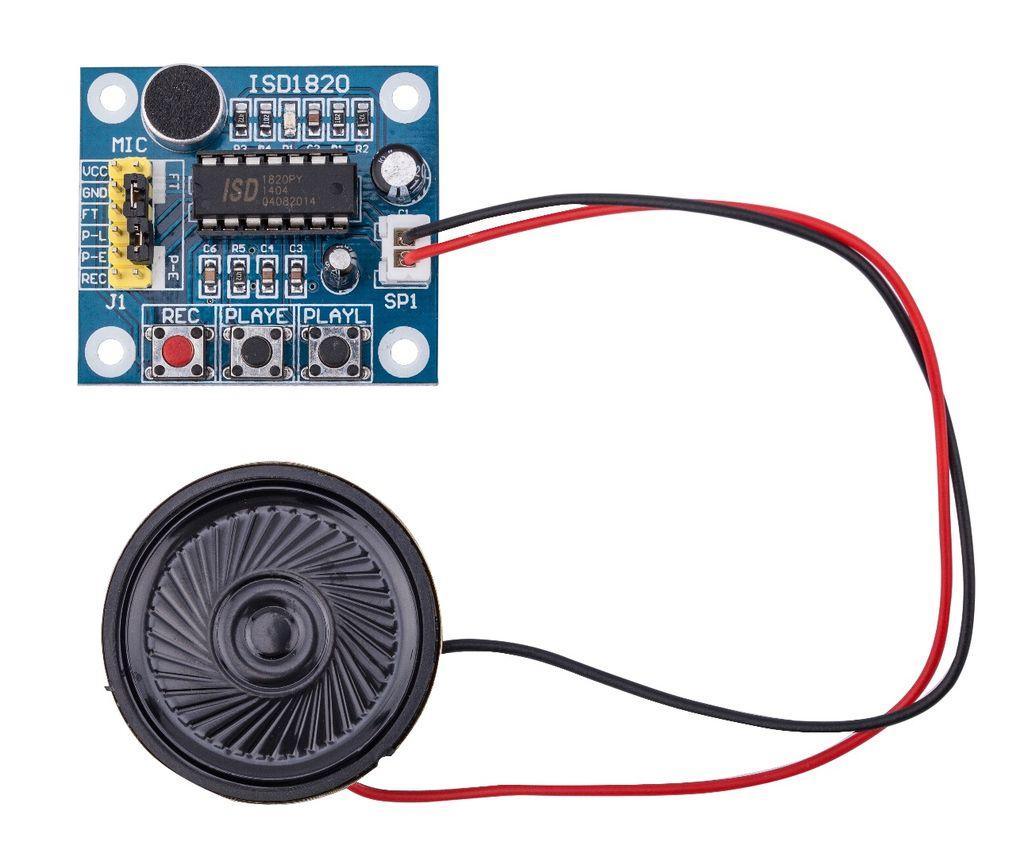 KY-008激光模块与ISD1820录音模块的使用