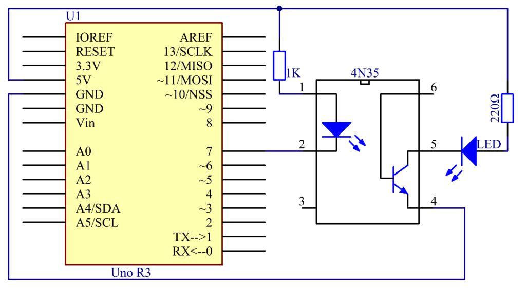 4N35光电耦合器的使用