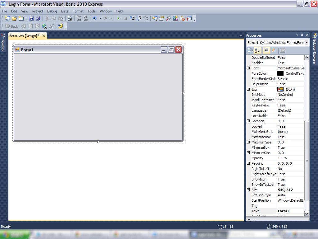 怎样在Visual Basics中制作登录表单