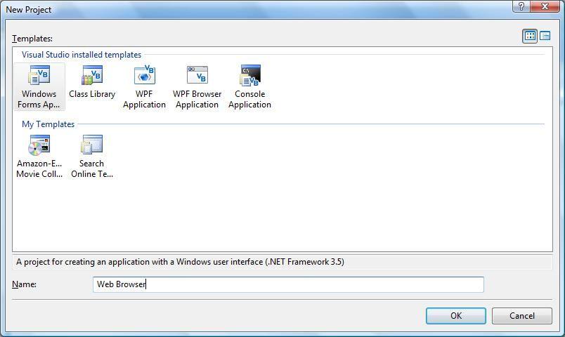 如何在VB.NET中创建简单的Web浏览器应用程序