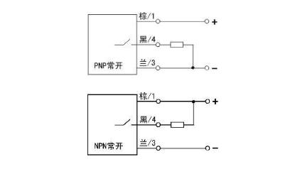 NPN、PNP传感器的接线方式