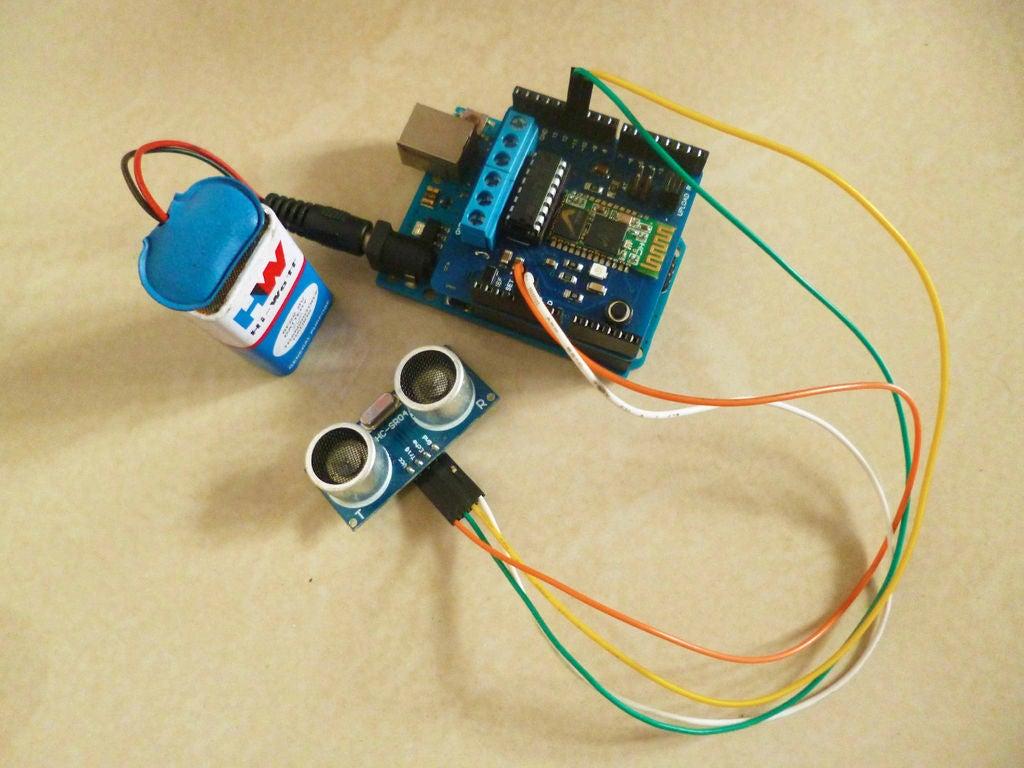 带蓝牙和超声波传感器的计数器的制作