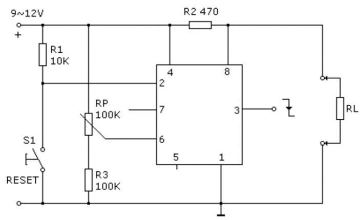 基于555时基电路的过流检测器电路分析