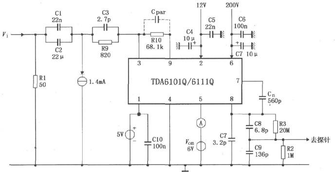 DA6101Q/6111Q测试电路的原理分析