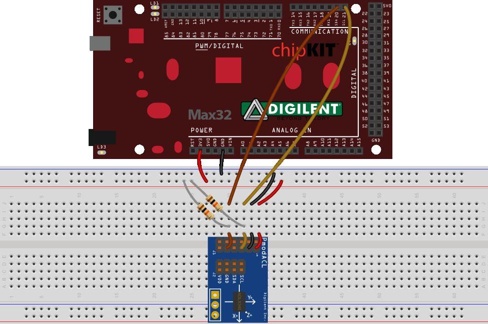 如何将ADLX345加速度计IC连接到labVIEW